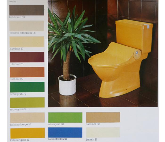 Geberella, Dusch-WC, Popo-Dusche, Das Dusch-WC wird 40, Geberit AquaClean, Farbe im Bad